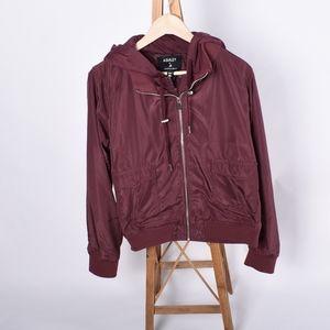 Ashley maroon hoodie bomber jacket size XL
